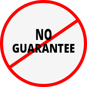 Image result for no guarantee